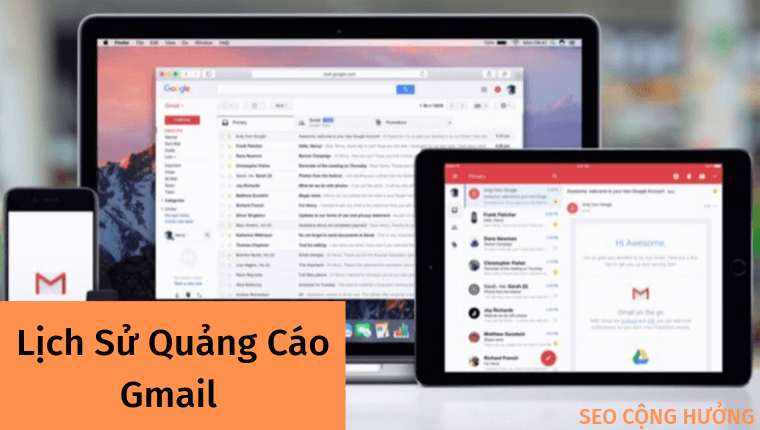 <strong>Lịch sử quảng cáo trong Gmail</strong>