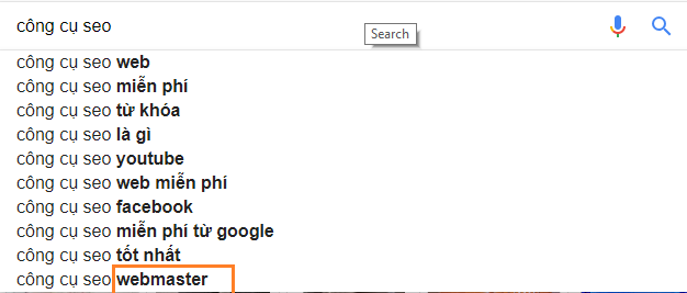 Google Suggestion